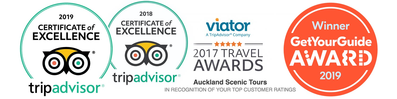 Auckland Scenic Tours Awards